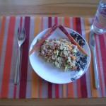 Assiette d'ebly aux légumes